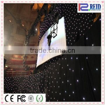 Fancy wedding stage background flexible curtain Fairy Star Sky Led Lights