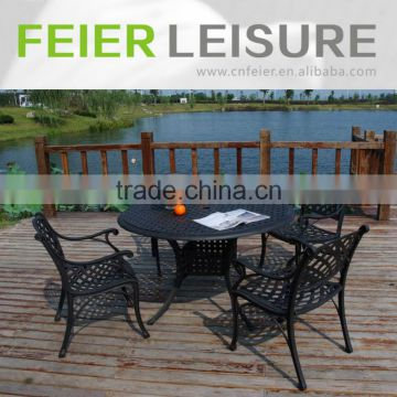 A6002CH Metal furniture outdoor dining set Cast Aluminum table and chair