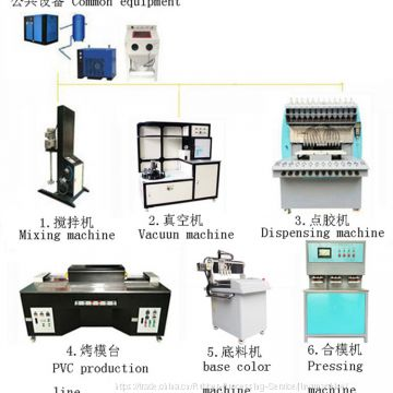 logo machine pvc plastic dripping machine