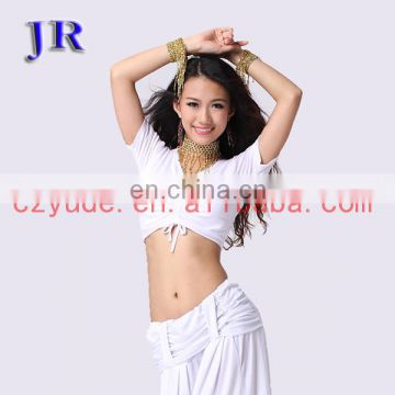 Practice adult belly dance short sleeve top wear S-3037#