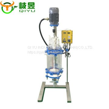 2L Polypeptides Solid State Glass Reaction Kettle