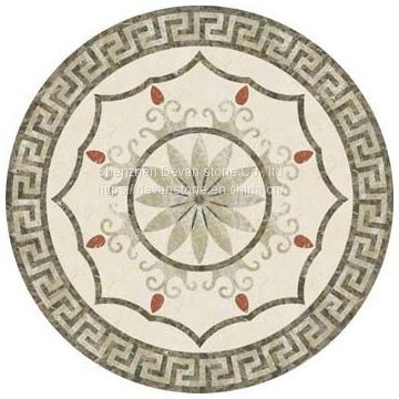 NEW popular floor design marble waterjet medallion