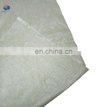 Wholesale cheap price green color used pp 50kg woven bags