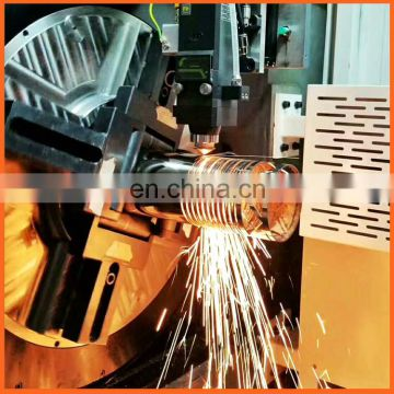 Popular focus lens diamond and door hanger laser cutting machine for laser tube cutting