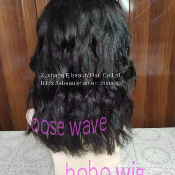 New! fashionable style 13x4 lace wig bobo wig loose wave 10-14inch available natural color