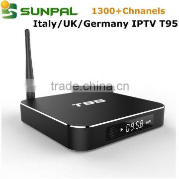 Android tv box T95 + apk account IPTV Subscription IUDTV 1300+ Italy IPTV  Arabic French Swedish Turkish Albania Dutch UK IPTV , Most Popular