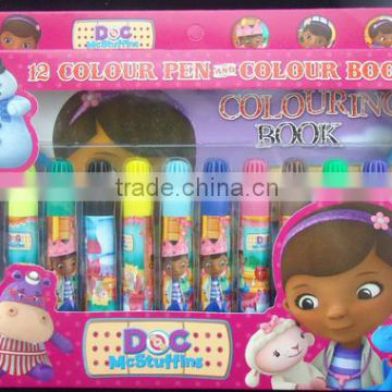Wholesale Baby Girls Doc Mcstuffins Coloring Book And Water Colored