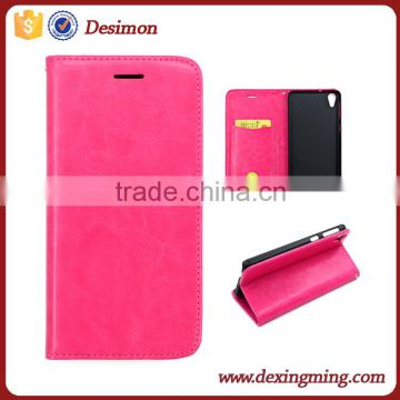 For HTC 826 factory Desimon Magnetic Flip PU Leather Credit Card phone Case Cover