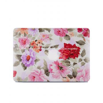 2017 Laptop Case Case Rose PC Case for MacBook Sticker for Macbook TPU + PC beautiful pattern Notebook sleeves Silicone