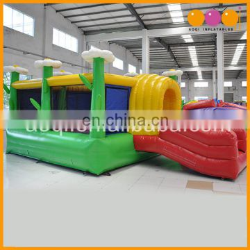 Big inflatale bounce room flower theme park inflatable bouncer for sale