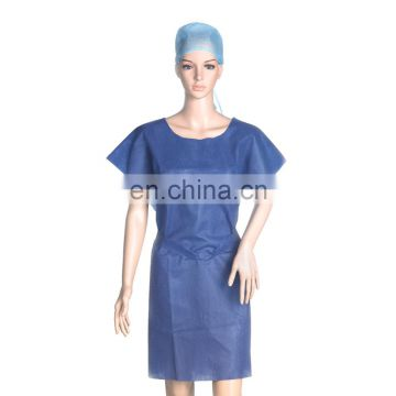 Disposable PP non-woven fabric isolation gown/disposable patient gown