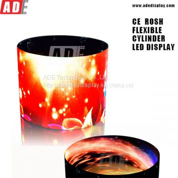 Flexible led display for cylinder with HD clear effect ct@adedisplay.com