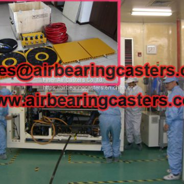 Air bearing casters applications and advantages