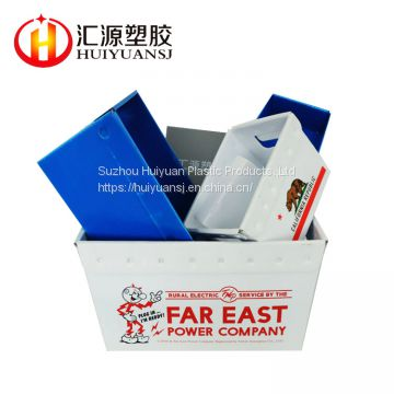 Factory polypropylene corrugated plastic sheet fluted corrugated plastic sheet