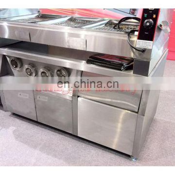 1.5 Meter Center Island Working Table Milk Tea Shop Stainless Steel Station Operating Table Hamburg Shop