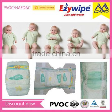 Magic tape cloth-like soft cotton baby diaper, good quality baby nappy, disposable baby diaper