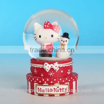 Hello Kitty cat snow globe/the snow-cat and snowman