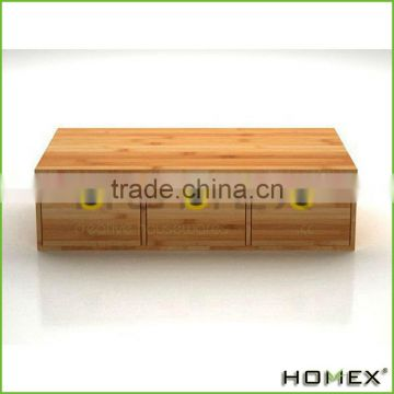Bamboo desktop drawers office table desk organizer Homex-BSCI Factory