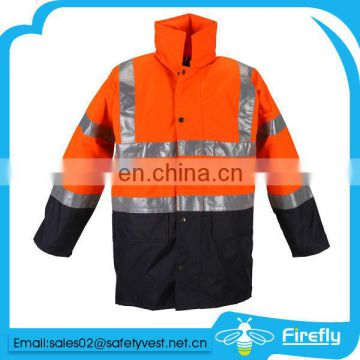 high visibility security 3m reflective safety jacket safety parka