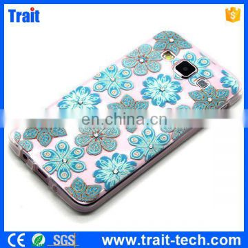 Fancy Diamond Studded Embossing Ultrathin TPU Case for Samsung Galaxy A3 SM-A300F A3000