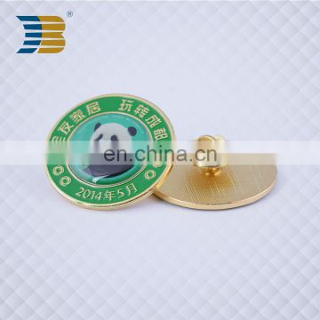 cheap wholesale metal round shape pin button badge custom