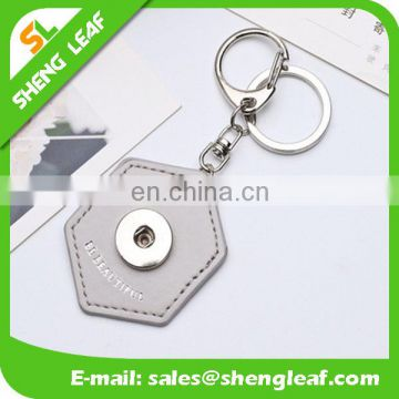 Creative shape with various colors leather keychains for ladys
