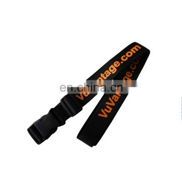 China 200 cm length adjustable travel polyester luggage strap with lock