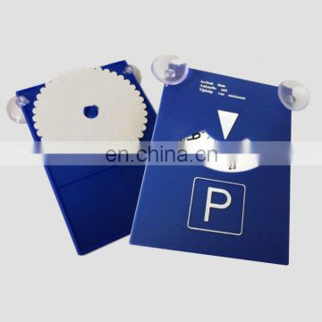 Plastic parking disk parking disc with dual suction cup