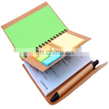 hot sale Recycled Notepad stationery set with Memo and ball pen for promotion or office