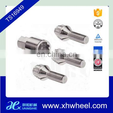 Wheel hubs hex bolt extended titanium lock bolts