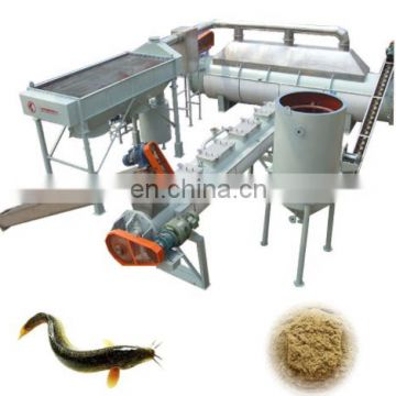 Manufacture Big Capacity fish meal maker fish food powder making machine floating fish meal extruder