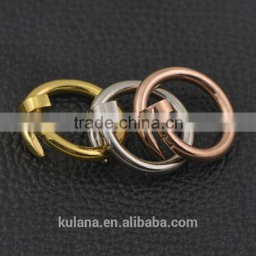Unusual wedding rings twisted nail rings