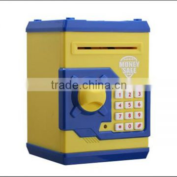 merchandising promotional kids electronic safe money box toy atm smart piggy bank
