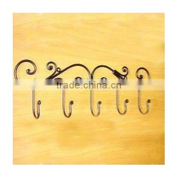 5 Hook Powder coated Hanging Clothes Coat Rack