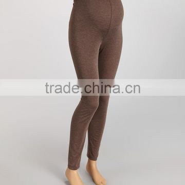Hot Selling Maternity Trousers With Heather Cocoa Over-Belly Maternity Leggings Pants Women Wear WP80817-7