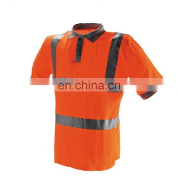 safety reflective work shirt with polo
