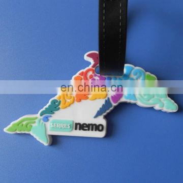 custom die cut travel airplane luggage tag name bag