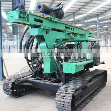 Construction project used big diameter piling auger hydraulic drilling pile driver