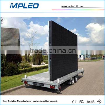 Pop up easy installation led digital panel on truck with linsn card control system