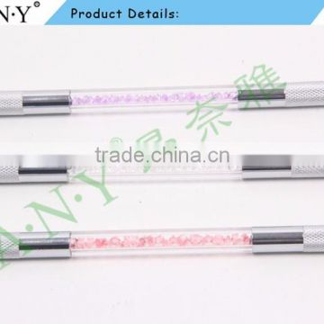 ANY Double Head Clear Handle Permanent Makeup Eyebrow Embroidery Tattoo Microblading Tools Pen