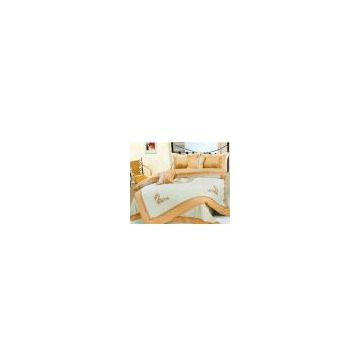Embroidered 8 Pcs Comforter Set