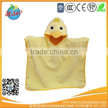 hot sale animal poncho bathrobe for kids