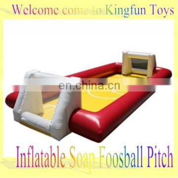 2014 inflatable soap soccer field with bottom