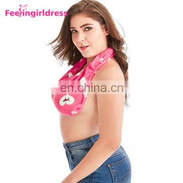 Oem Wholesale Comfortable Sports Towel Sexy Women Bra Boob Sweat