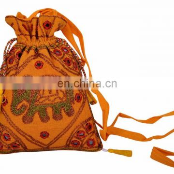 Pouch Bags Embroidered Shoulder Potli Bags Indian Crossbody ethnic Gift Pouch bag wedding gift jewelry pouches/pouch festival