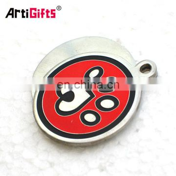 Custom wholesale bulk cheap laser engraved metal aluminium blank round dog tags