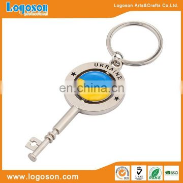 Customized design logo italy map souvenir keyring pendant