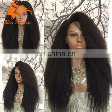 Unprocessed Real Raw Natural Color Remy Hair Fashional Design Virgin Yaki Human Hair Wig Full Lace Wig