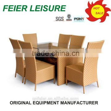 Restaurant stackable outdoor portable table and chairs