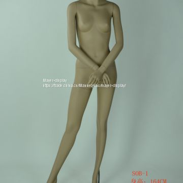 Woman and man skin color full body clothing mannequin